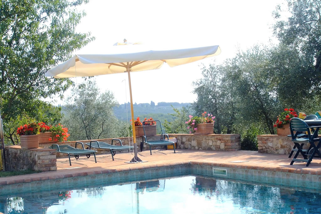 Swimming Among The Hills Of Chianti In Tuscany In Monaciano